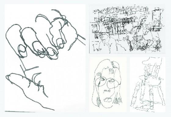 Contour Line Drawings By Famous Artists : Famous blind contour drawings